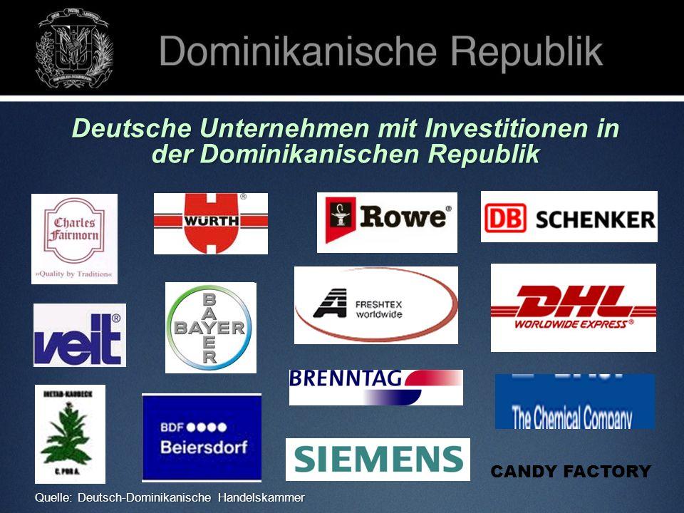 Deutsche Unternehmen mit Investitionen in der Dominikanischen Republik