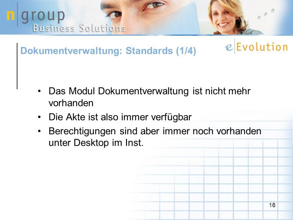 Dokumentverwaltung: Standards (1/4)