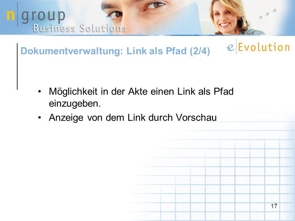 Dokumentverwaltung: Link als Pfad (2/4)
