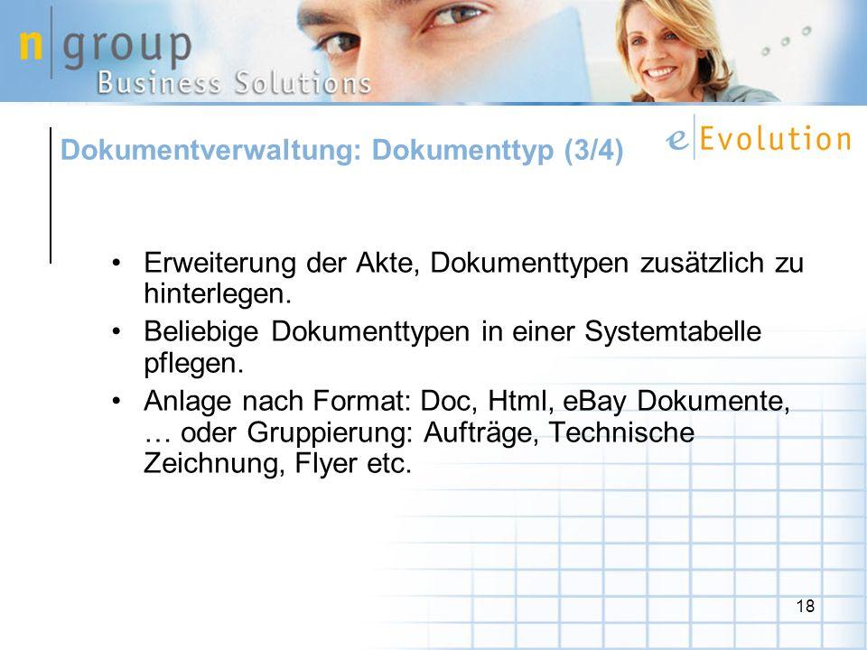 Dokumentverwaltung: Dokumenttyp (3/4)