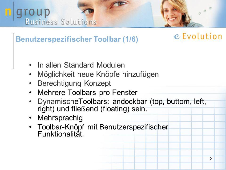 Benutzerspezifischer Toolbar (1/6)