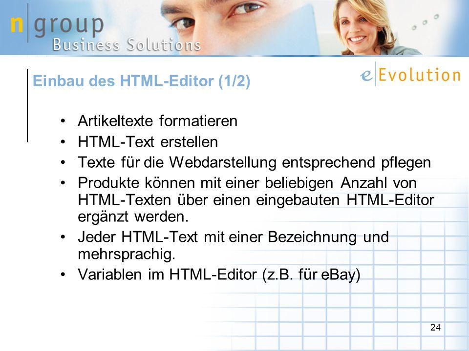 Einbau des HTML-Editor (1/2)