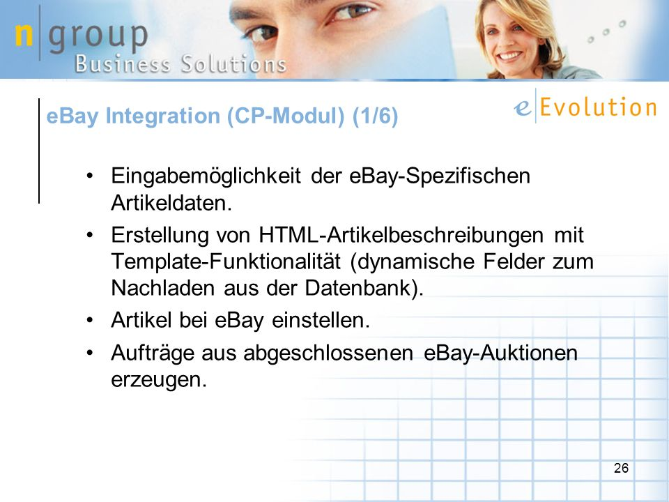 eBay Integration (CP-Modul) (1/6)