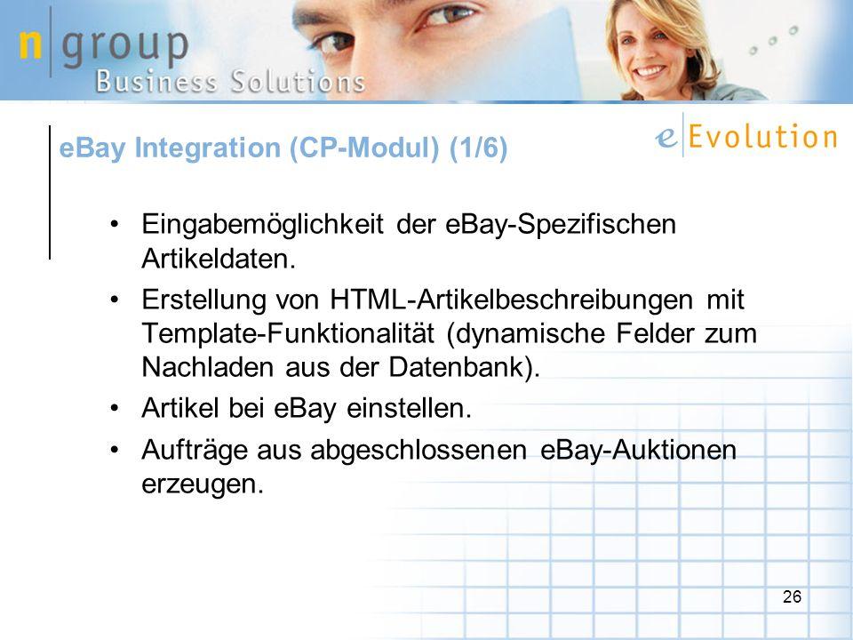 eBay Integration (CP-Modul) (1/6)