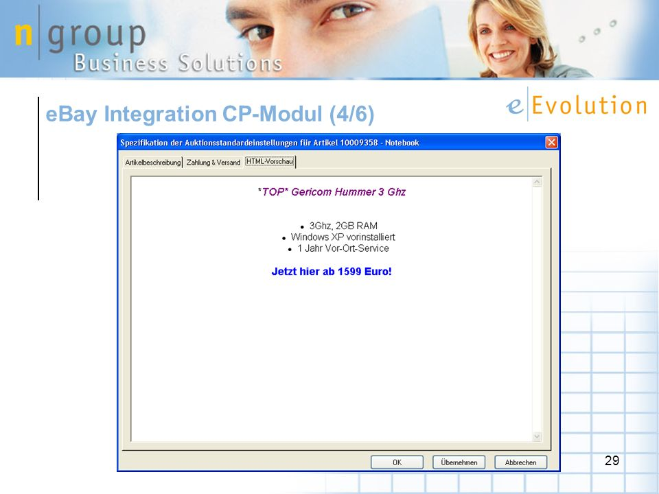 eBay Integration CP-Modul (4/6)