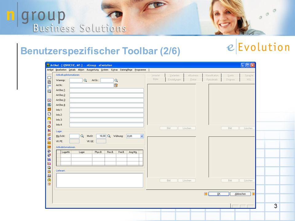 Benutzerspezifischer Toolbar (2/6)