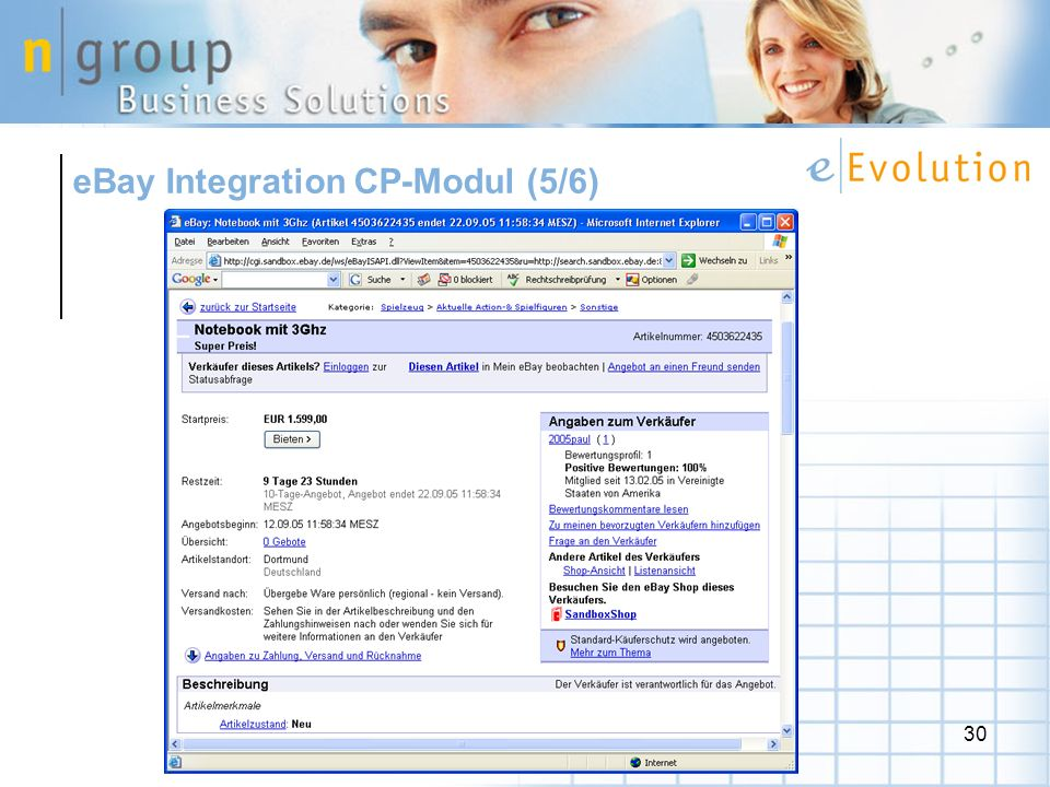 eBay Integration CP-Modul (5/6)