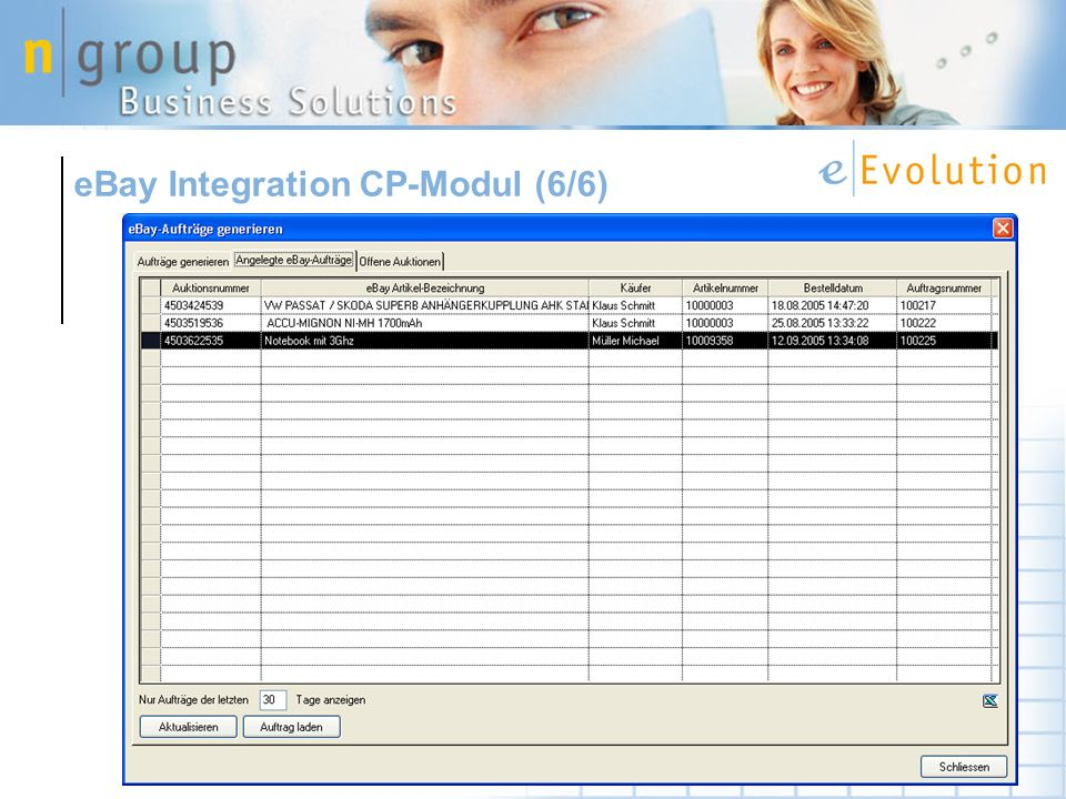 eBay Integration CP-Modul (6/6)