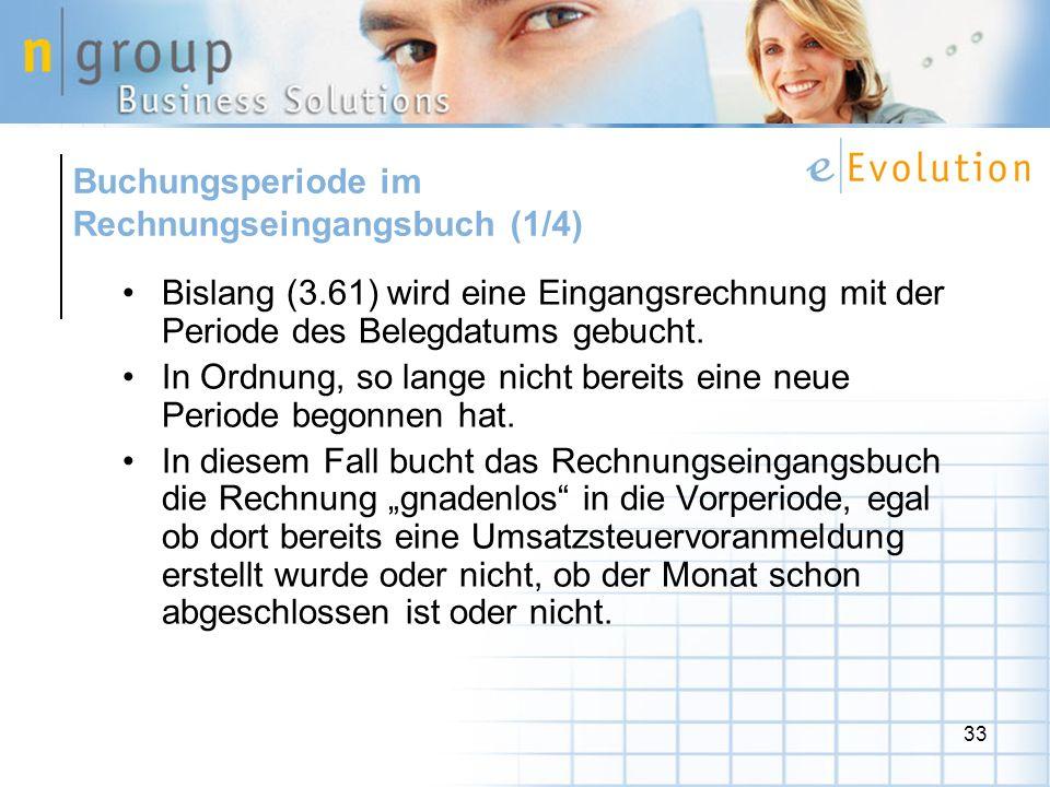 Buchungsperiode im Rechnungseingangsbuch (1/4)