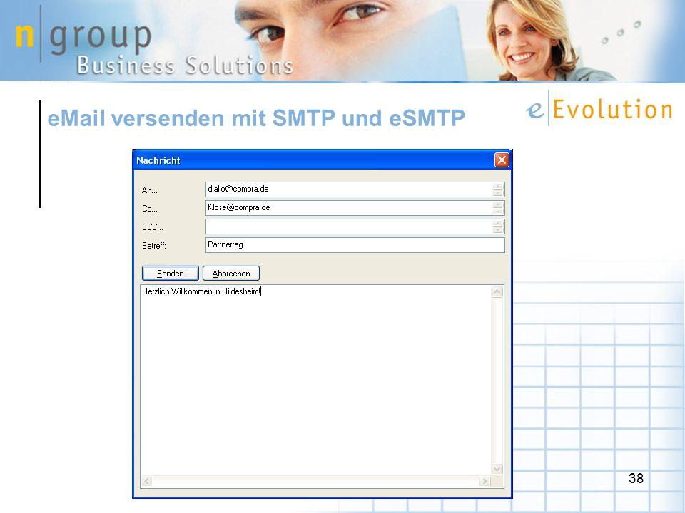 eMail versenden mit SMTP und eSMTP