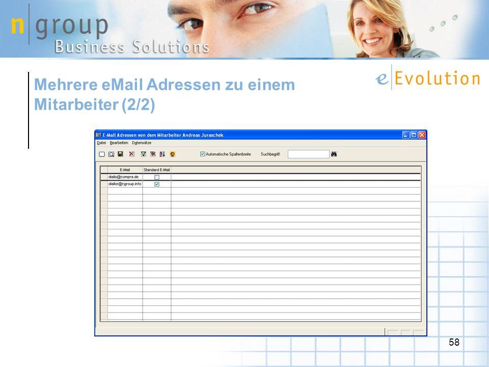 Mehrere eMail Adressen zu einem Mitarbeiter (2/2)