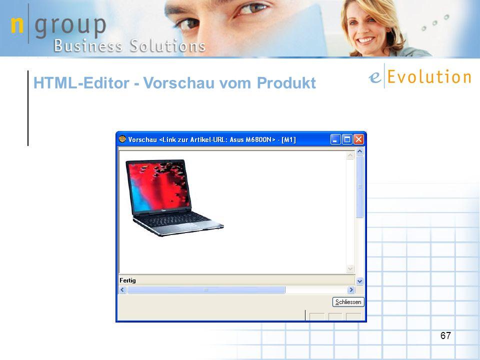 HTML-Editor - Vorschau vom Produkt