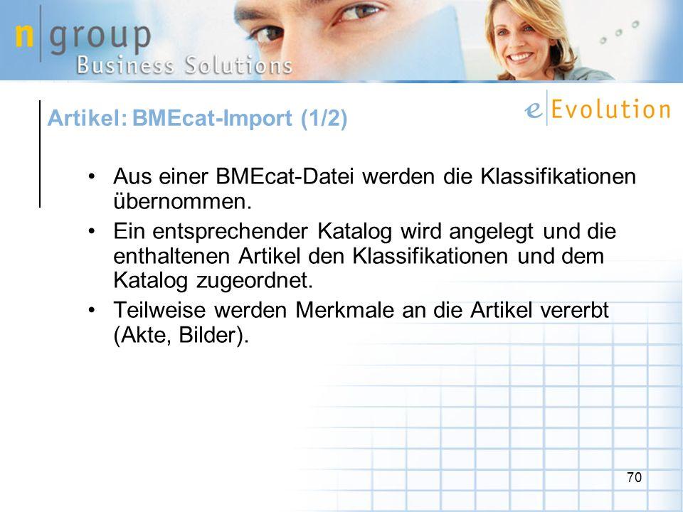 Artikel: BMEcat-Import (1/2)