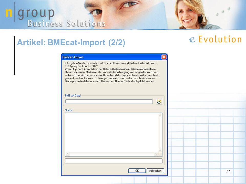 Artikel: BMEcat-Import (2/2)
