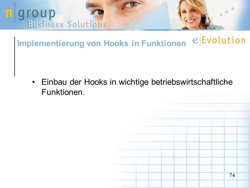 Implementierung von Hooks in Funktionen