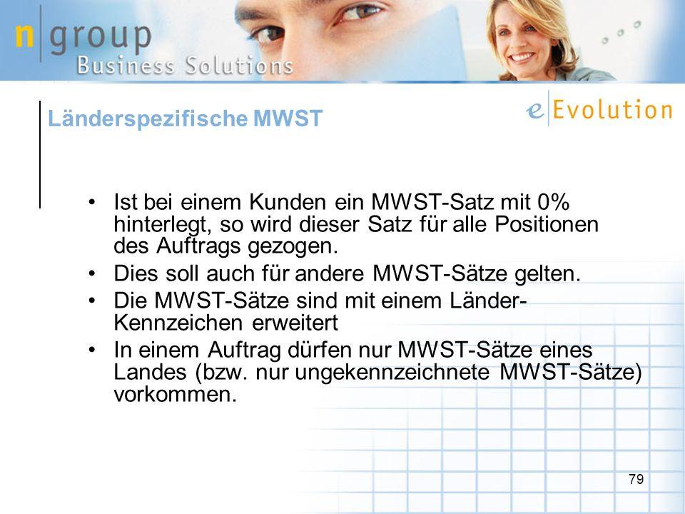 Länderspezifische MWST