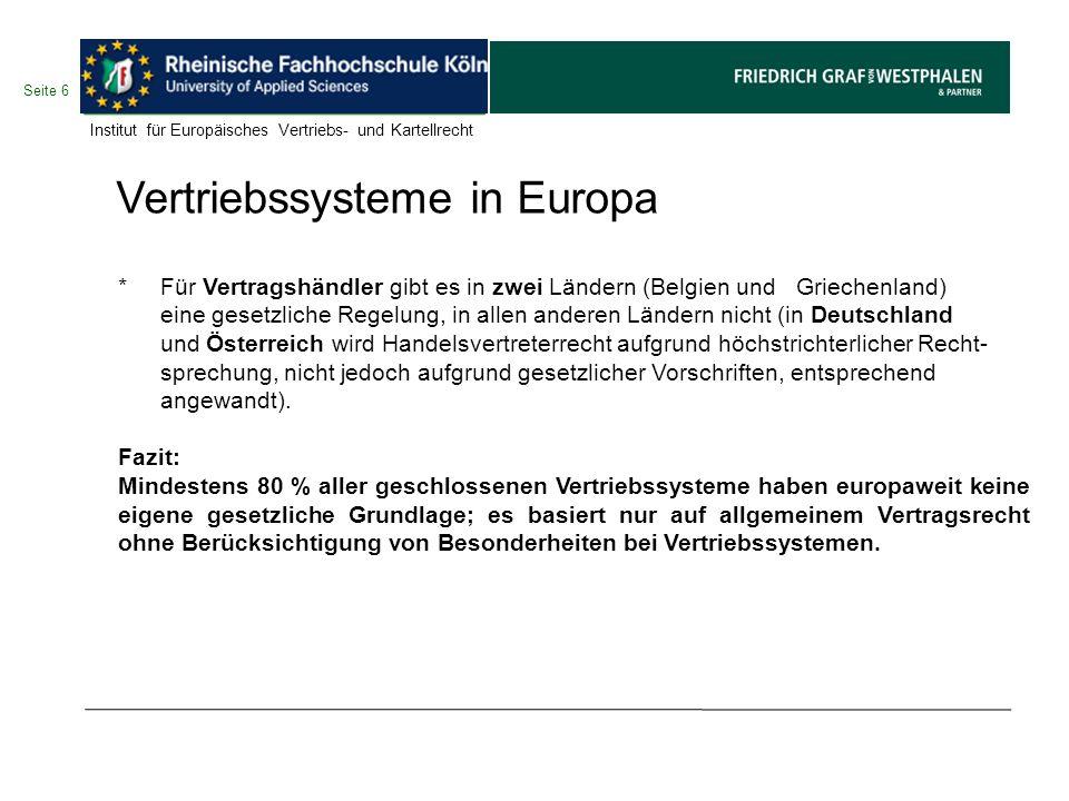 Vertriebssysteme in Europa