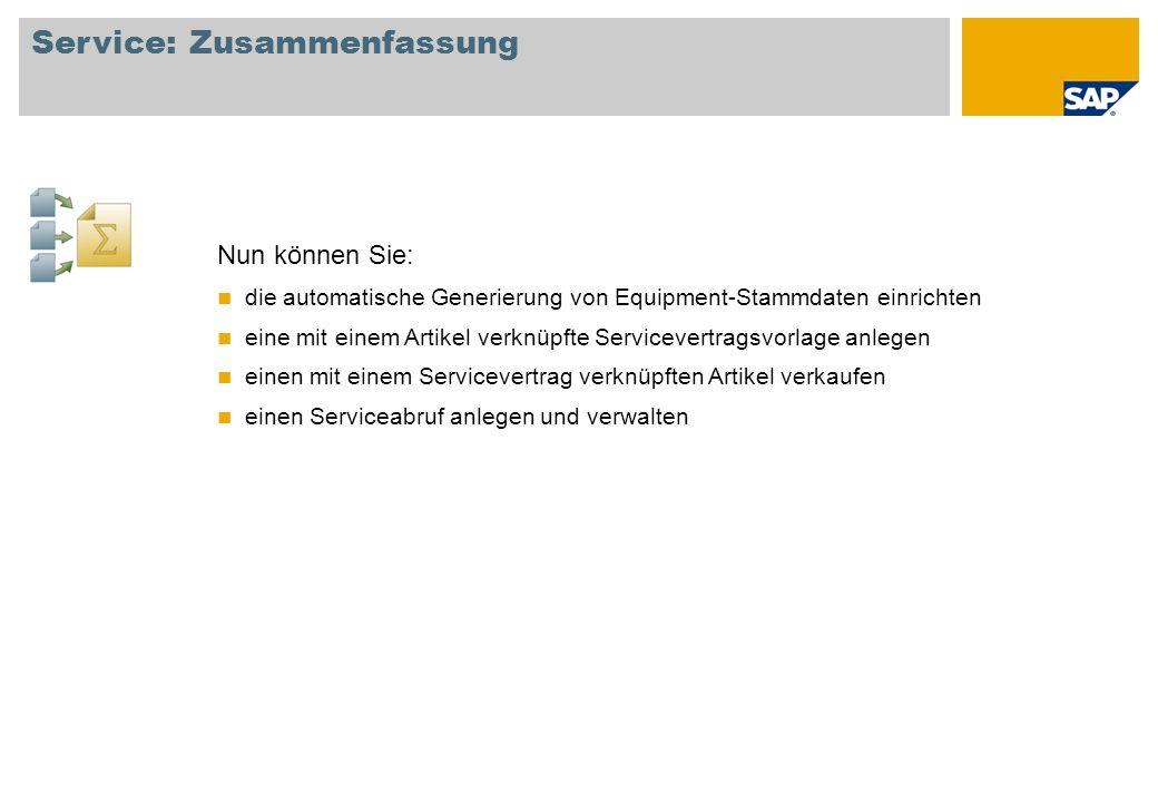 Service: Zusammenfassung