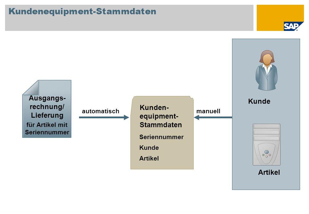Kundenequipment-Stammdaten