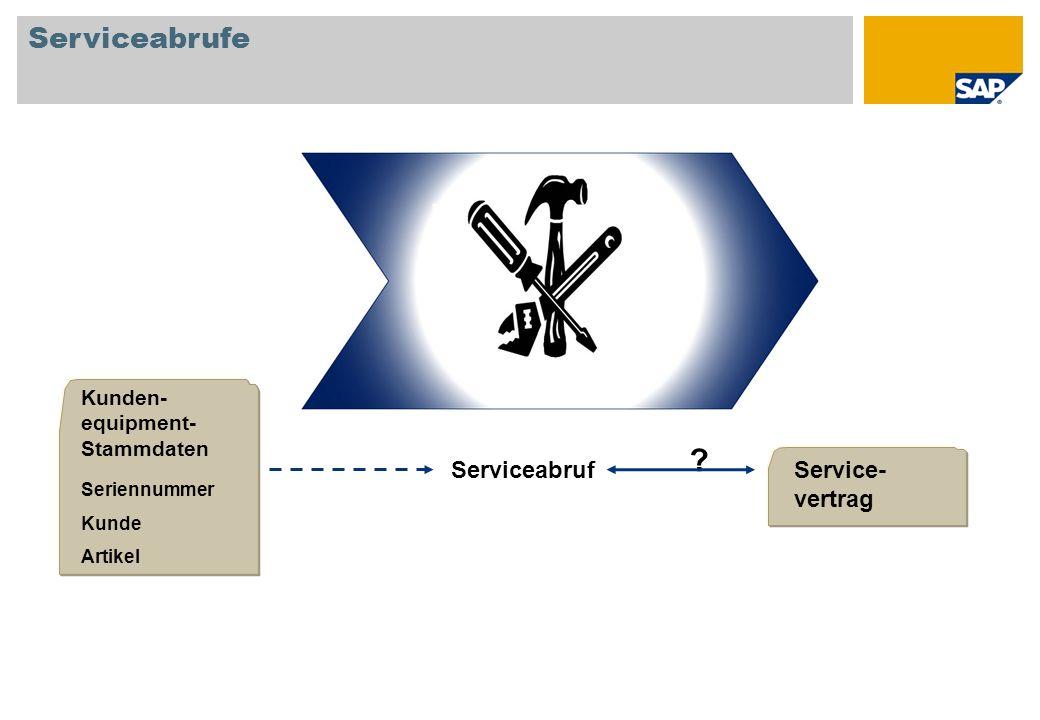 Serviceabrufe Serviceabruf Service-vertrag
