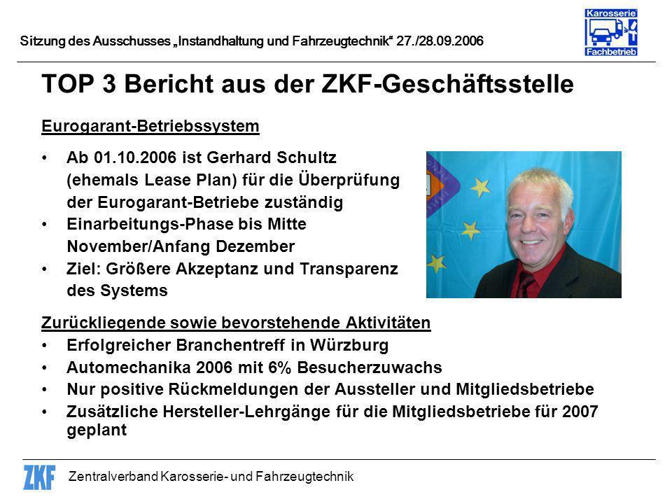 TOP 3 Bericht aus der ZKF-Geschäftsstelle
