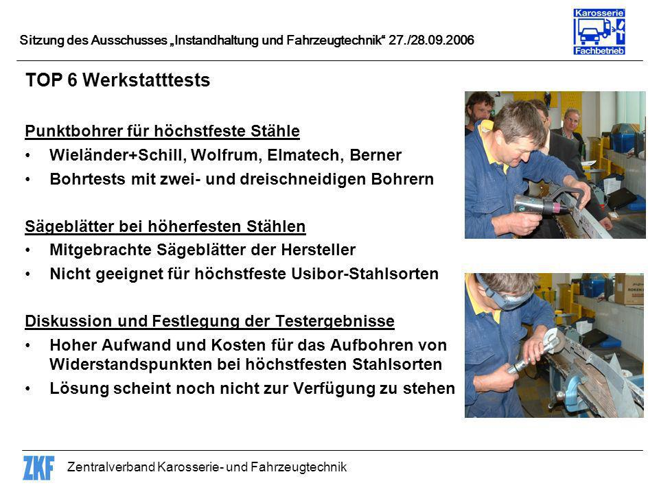 TOP 6 Werkstatttests Punktbohrer für höchstfeste Stähle