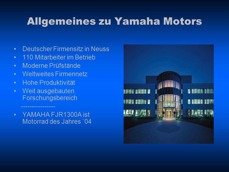 Allgemeines zu Yamaha Motors