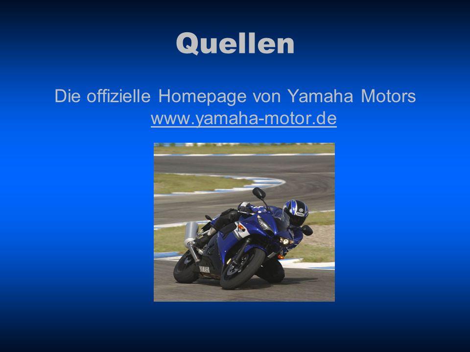 Die offizielle Homepage von Yamaha Motors www.yamaha-motor.de