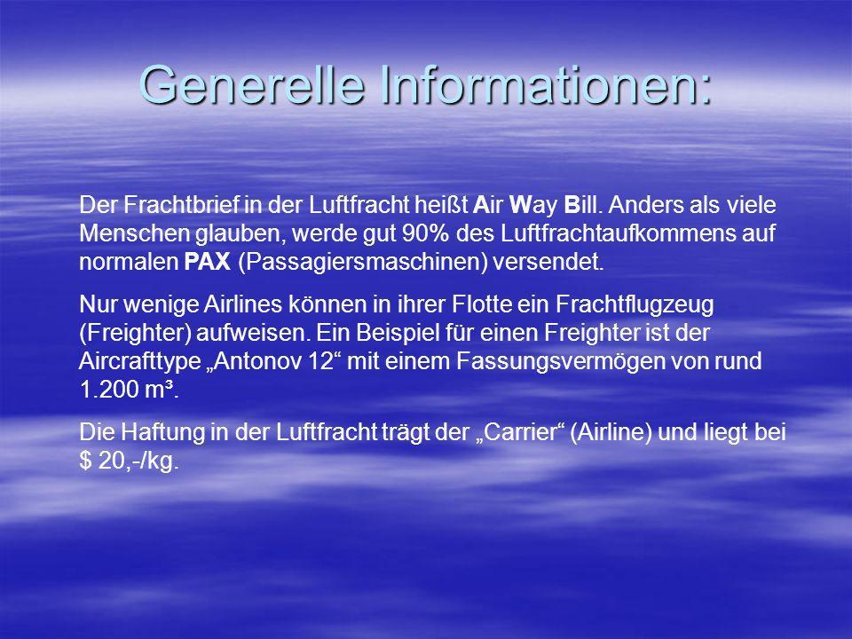 Generelle Informationen: