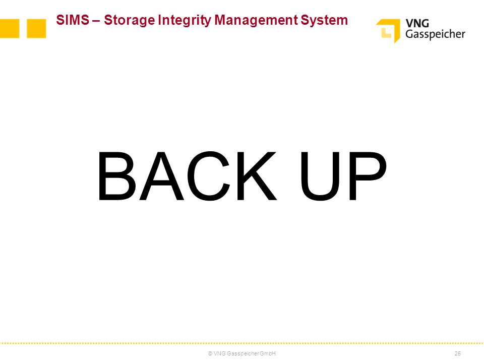 BACK UP SIMS – Storage Integrity Management System 25