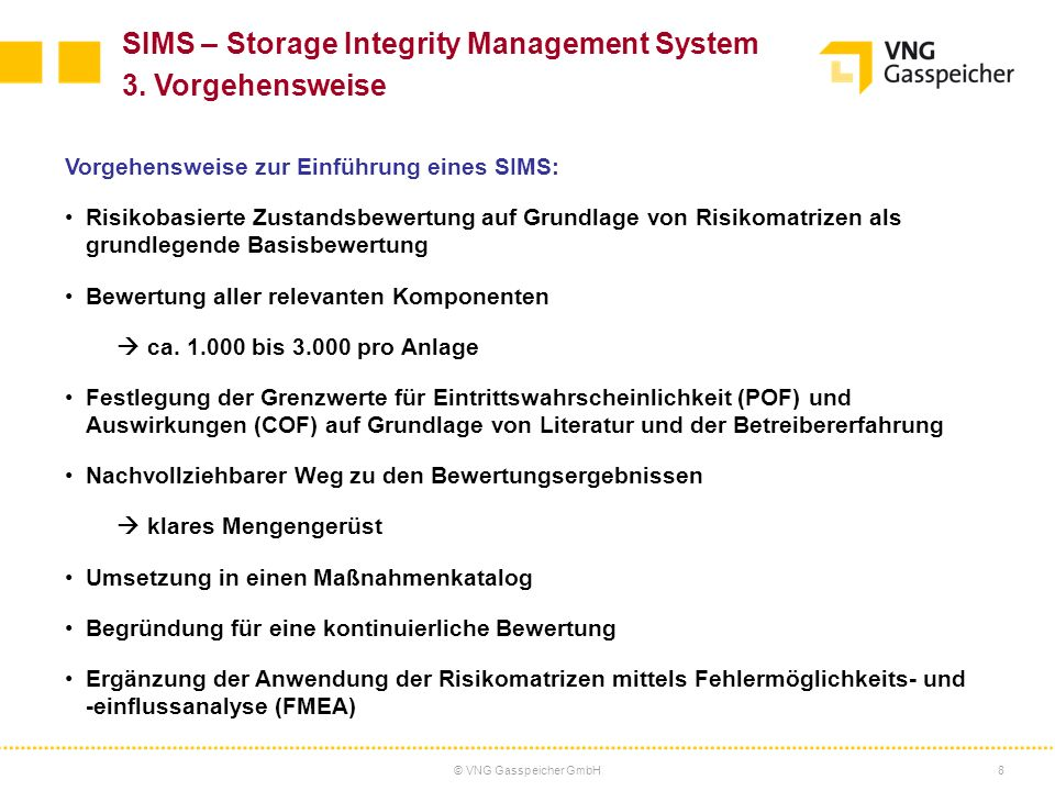 SIMS – Storage Integrity Management System 3. Vorgehensweise