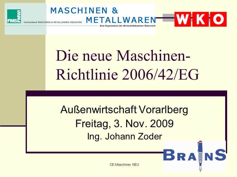 Die neue Maschinen-Richtlinie 2006/42/EG