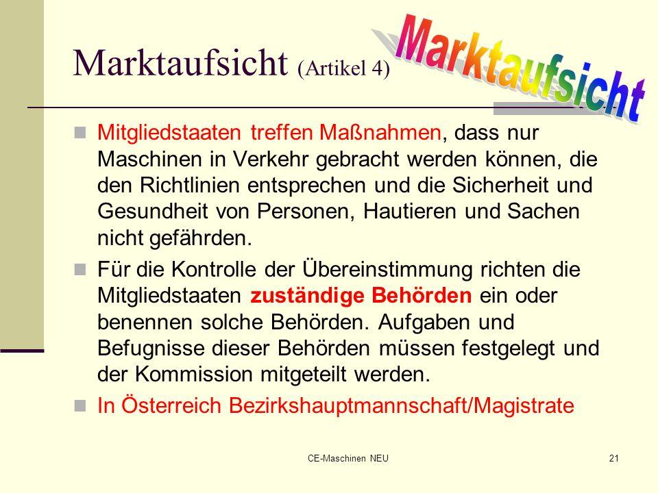 Marktaufsicht (Artikel 4)
