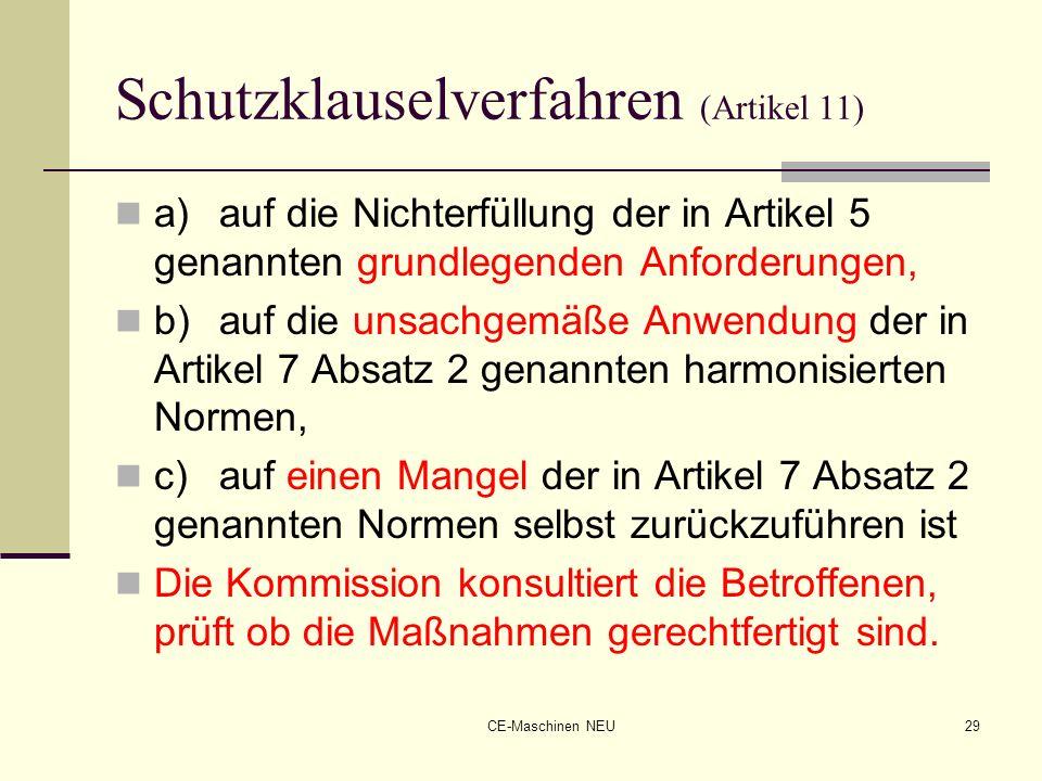 Schutzklauselverfahren (Artikel 11)