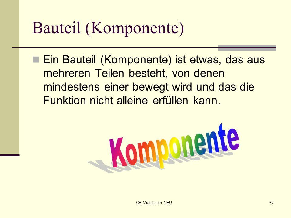 Bauteil (Komponente) Komponente