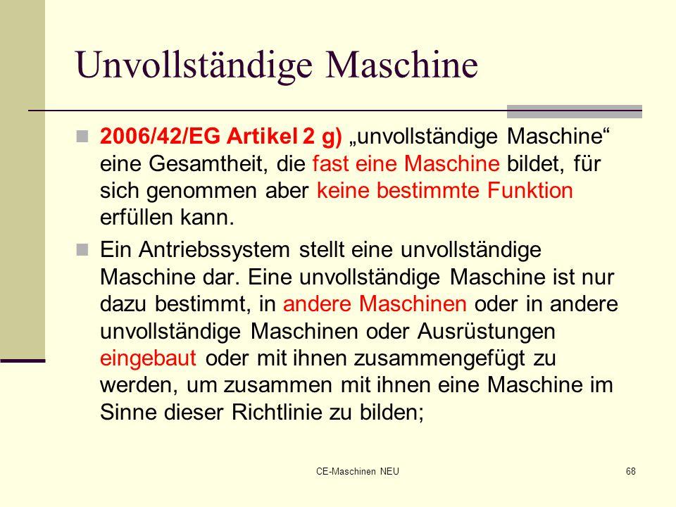 Unvollständige Maschine