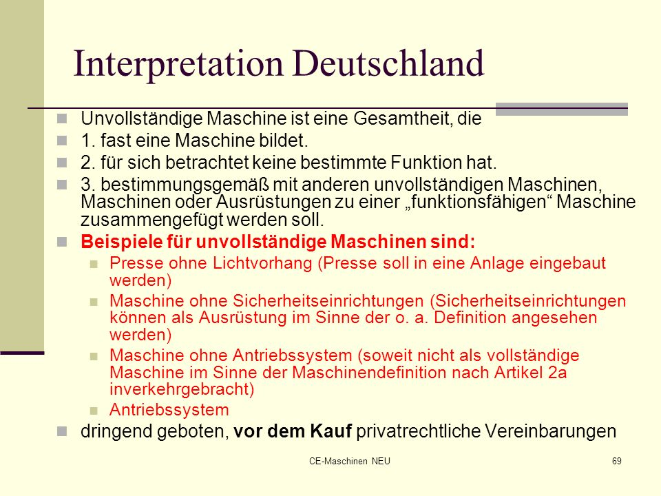Interpretation Deutschland