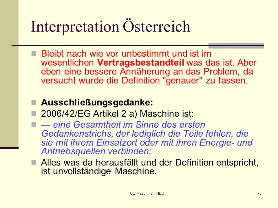 Interpretation Österreich