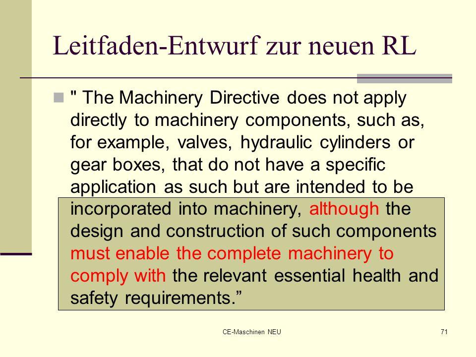 Leitfaden-Entwurf zur neuen RL
