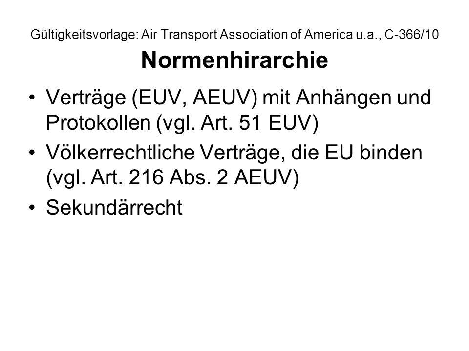 Verträge (EUV, AEUV) mit Anhängen und Protokollen (vgl. Art. 51 EUV)