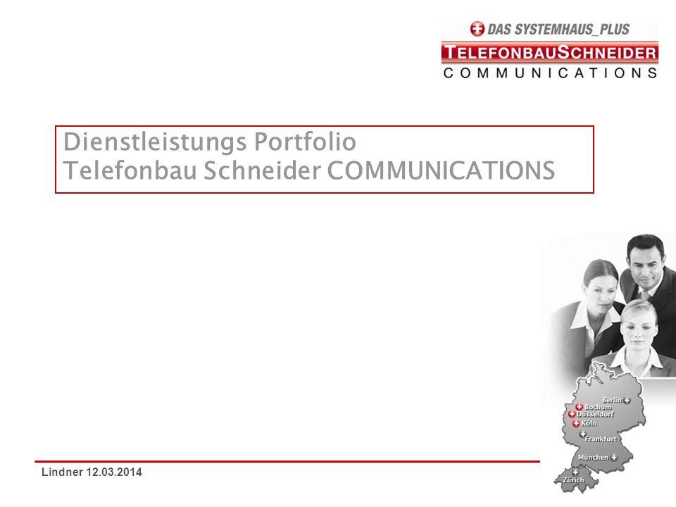 Dienstleistungs Portfolio Telefonbau Schneider COMMUNICATIONS