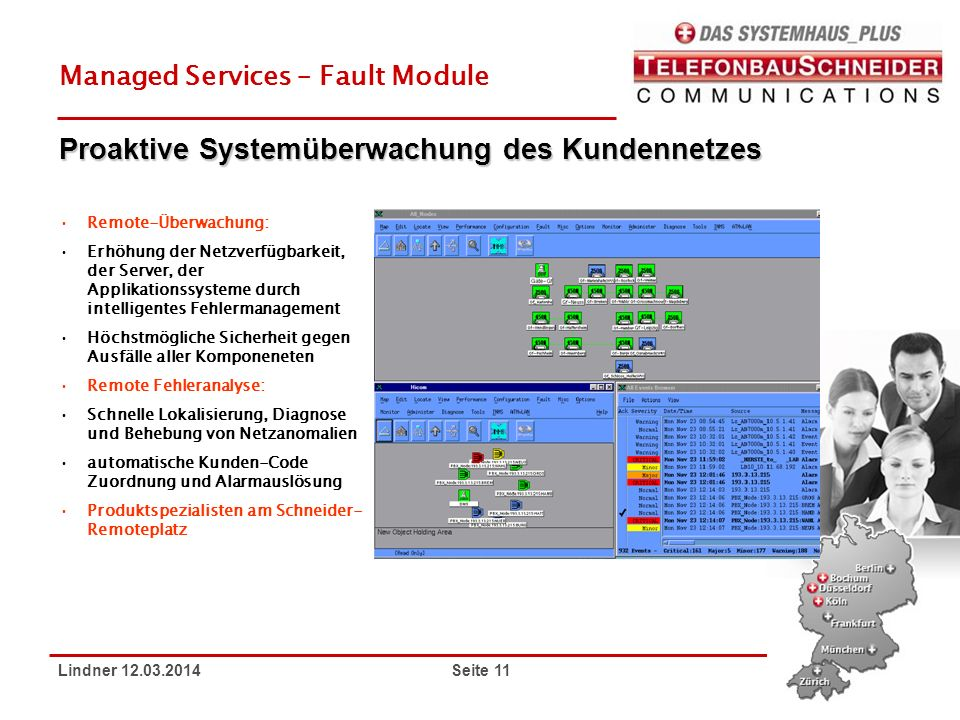 Proaktive Systemüberwachung des Kundennetzes