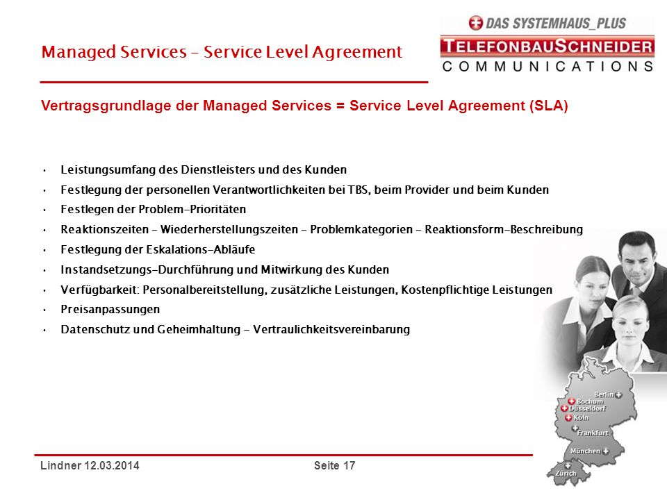 Managed Services – Service Level Agreement