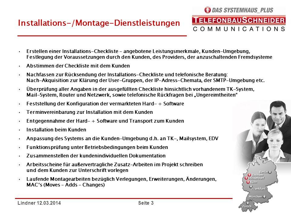 Installations-/Montage-Dienstleistungen
