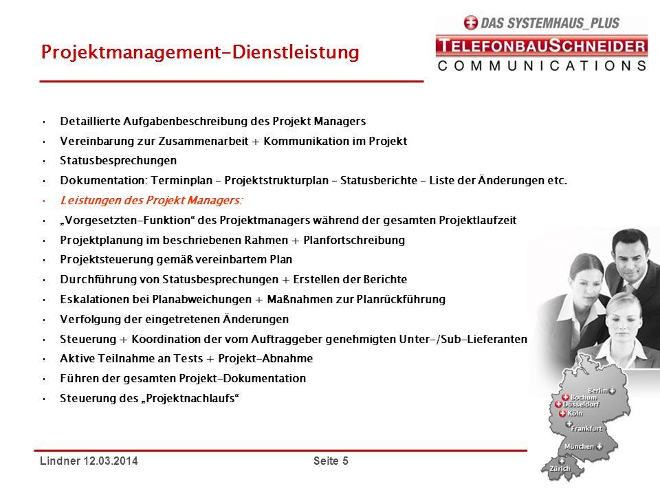 Projektmanagement-Dienstleistung