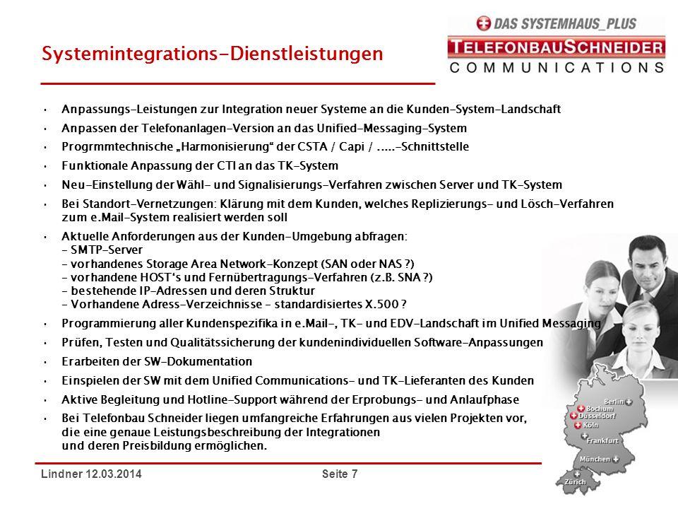 Systemintegrations-Dienstleistungen