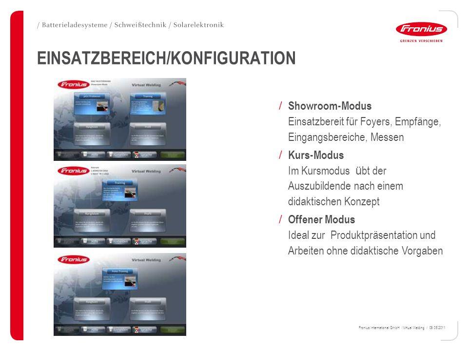 EINSATZBEREICH/KONFIGURATION