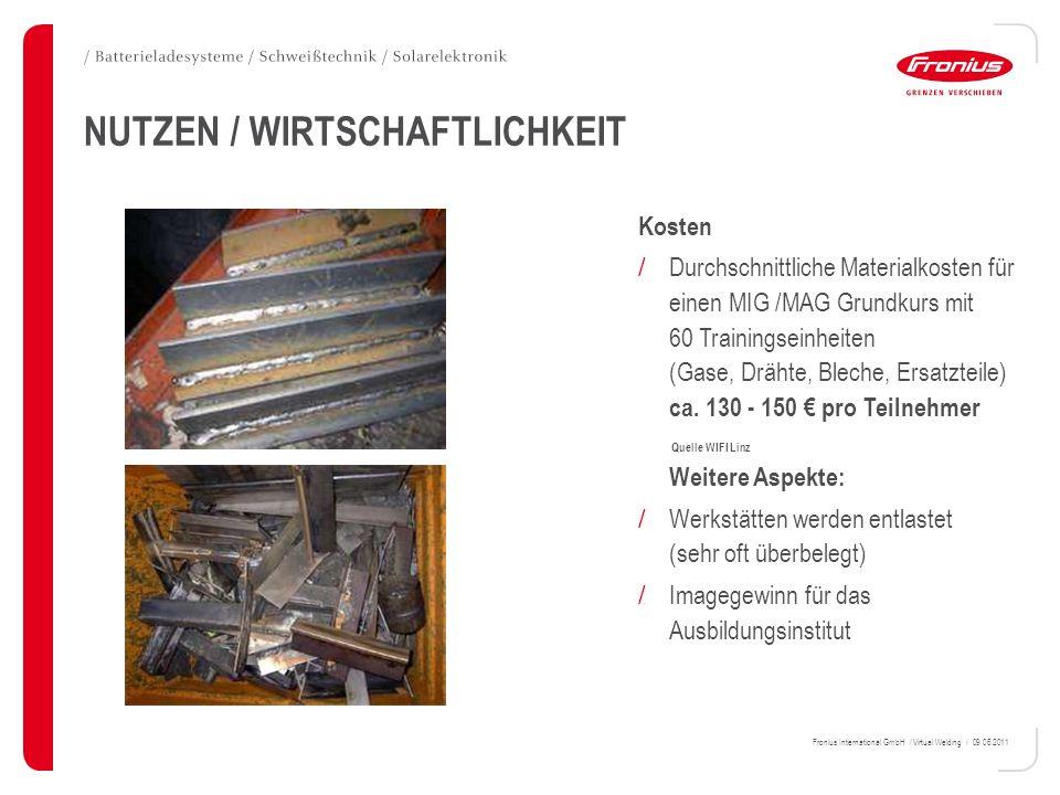 NUTZEN / WIRTSCHAFTLICHKEIT