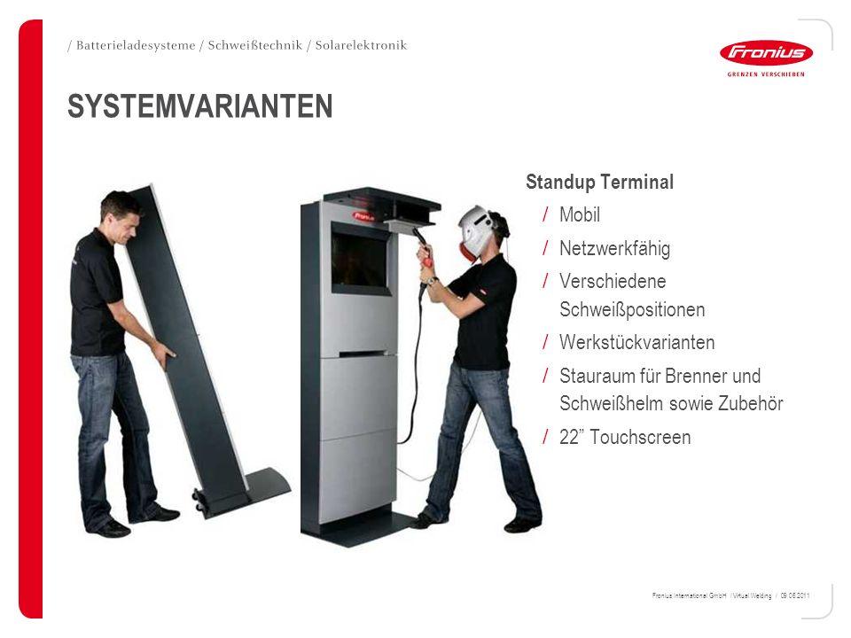 SYSTEMVARIANTEN Standup Terminal Mobil Netzwerkfähig