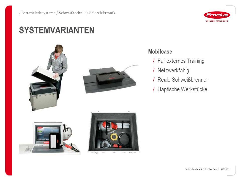 SYSTEMVARIANTEN Mobilcase Für externes Training Netzwerkfähig
